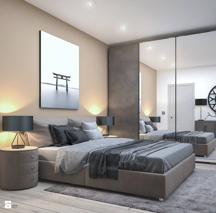 Progettazione e render interior design to camera da for Design camera da letto matrimoniale