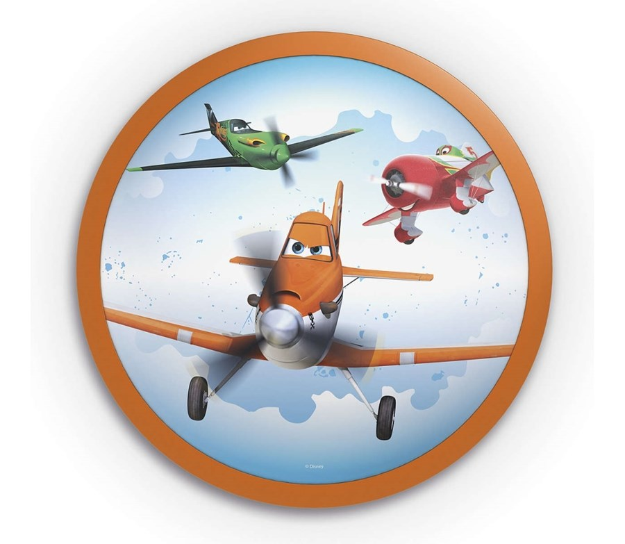 Philips 71760/53/16 - Applique a LED per bambini DISNEY PLANES 1xLED/4W/230V LED Multicolore Applique da parete