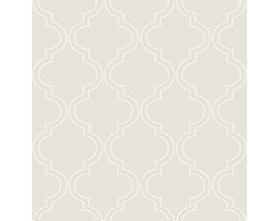 NuWallpaper tortora Quatrefoil Peel and Stick-Carta da parati