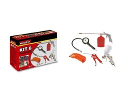 Mecafer 150098 - Kit per compressore, 8 accessori, a connessione universale