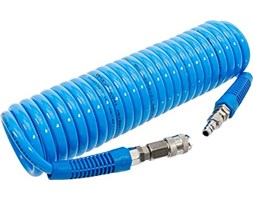 BGS 66541, Tubo a Spirale per Aria compressa,6 m, 10 Bar, Diametro Interno 8 mm, in Poliuretano Blu