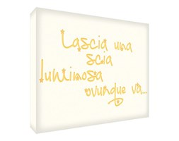 Feel Good Art SPARKLE1216-06IT Quadro su Tela da Muro in Stile Tipografico, Giallo, 40 x 30 x 4 cm