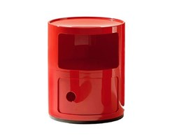 Kartell Contenitore Componibile Standard, 100% ABS, Rosso, 32 x 32 x 40 cm