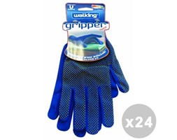 WALKING Set 24 WALKING Guanti home gripper taglia unica - guanti Blu Guanti