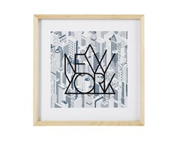 Quadro stampa New-York in legno di paulonia, 40x40 cm