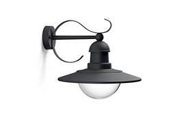 Philips Lighting Topiary, Lampada da Parete per Esterni, Vintage Design, Dimmerabile, Black Edition Vintage Design