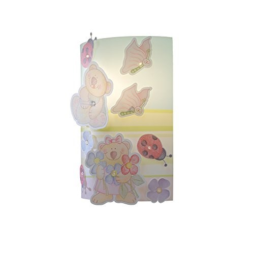 Linea Zero 180/Fat, Animal Farm, plastica, colorful, 22 x 11 x 32 cm Applique da parete Plastica