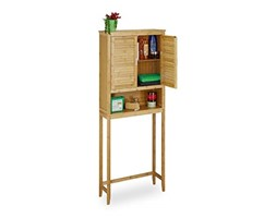 Relaxdays Lamell Mobile Da Bagno Marrone Scuro Armadietto In Bambu