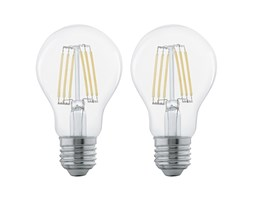 SET 2x Lampadina LED FILAMENT CLEAR E27/6W/230V - Eglo 11509 Set di lampadine LED