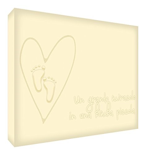 Feel Good Art MIRACLEGIRL1216-20IT Quadro su Tela da Muro in Stile Tipografico, Panna, 40 x 30 x 4 cm