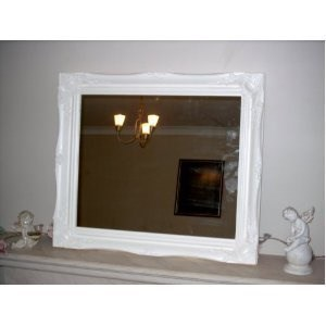 Frames by Post Large 5,1 cm Bianco Shabby Chic Style Specchio da ...