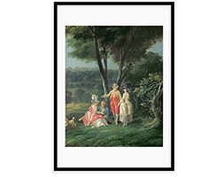 """Magnolia Box """"A Walk in The Park by Jean-Baptiste hilair Framed Painting Stampa, Legno,, XL Multicolore"""