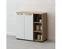 The furniture project by homemania Mobile, MOBILE Ruspin, Rovere endulus/bianco