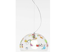 Kartell Fly Kids Lampada a Sospensione, Rosso, 52x33x46 Lampada a sospensione