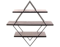 Sukima Decor Retro Rombo Scaffale, Metallo, Nero, 70 x 20 x 70 cm