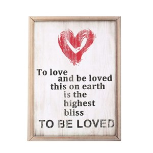 Quadro Stampato TO BE LOVED 40x30 Rosa