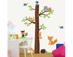 Vinile decorativo TREE & LITTLE OWLS