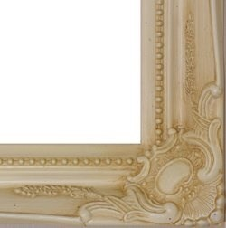 Frames by Post Large 5,1 cm Avorio Shabby Chic Style Specchio da ...