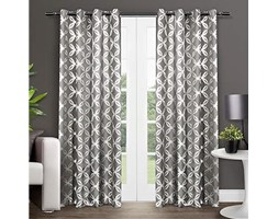 Exclusive Home Modo Grommet Top Curtain Panel Pair, Poliestere, Black Pearl, 84""