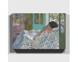 Grande Scatola Art Frederick Carl Frieseke pomeriggio in The Yellow Room Stampa su Tela, 30 x 50,8 cm