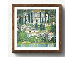 Big Box Art Grande Scatola in Noce Arte incorniciata Stampa 45,7 x 45,7 cm (45 x 45 cm) Gustav Klimt Church in cassone