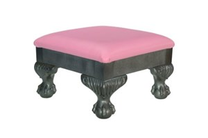 High street design sgabello con cuscino in ecopelle rosa e sfera