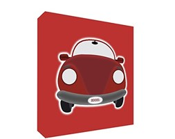 Feel Good Art SPORTSCAR2020-09IT Quadro su Tela da Muro in Stile Illustrativo con Auto Annata, Rosso, 51 x 51 x 4 cm