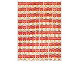 Artopweb Pannelli Decorativi Warhol One Hundred Cans 1962 Quadro, Legno, Multicolore, 46x1.8x64 cm