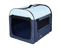 Trixie 39704 Pet Carrier 4 55, 65, 80 cm, Colore: Blu Scuro/Beige Blu Beige