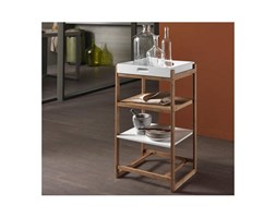 TFT Home Furniture Scaffale 4 ripiani in legno di bamboo Shabby Design Scandinavo Loft