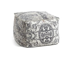Kave Home Pouf Lanes, 60x60x40 cm, in Tessuto - Grigio