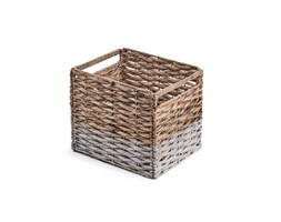 Kave Home Cestino Words,, in Fibra naturale - Naturale,Bianco