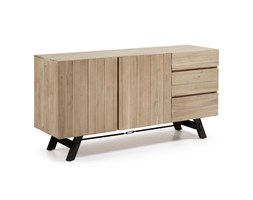 kave home credenza salyn in legno verde naturale