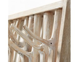 Kave Home Attaccapanni Muntfre, in Legno - Naturale,Bianco