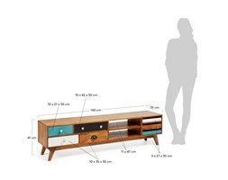 Kave Home Mobile Tv Conrad, in Legno - Multicolore