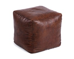 Kave Home Pouf Facts, in Pelle - Marrone