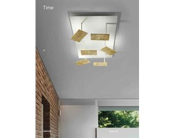 BRAGA ILLUMINAZIONE PLAFONIERA TIME LED PL80 Grigio Design Moderno LED