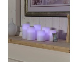 6 candele a luce LED multicolor con batterie