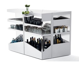 OPINION CIATTI mobile bar Q.BIST (Glacier White - Corian Dupont)