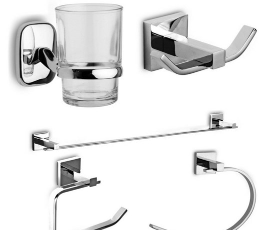Set Accessori Bagno Design Moderno Linea IT - Set accessori bagno ...