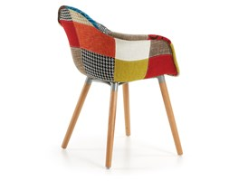 Kave Home - Sedia Kevya patchwork multicolore Beige