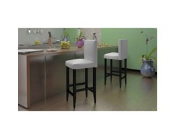 Vidaxl set sgabelli da bar in pelle artificiale nera design nero
