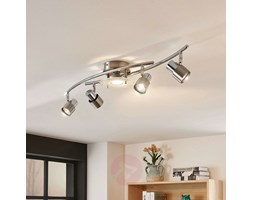 Plafoniera LED Cleon dimmerabile,nichel,a 5 luci