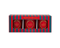 Shearer Candles Apple e Cannella Christmas Set Candela, Rosso, 5.7 x 17.4 x 6.7 cm