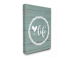 Stupell Home Decor Collection The Love This Life Corona Planked Stretched Wall Art, Tela, 40.64x 103.23x 50.8cm