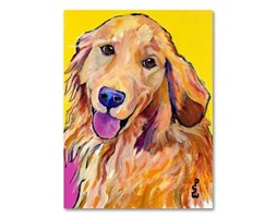 """Trademark Fine Art Molly by Pat Saunders-White Canvas Wall Art, Beige, 24 by 32"""""""