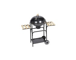 vidaXL Barbecue a legna e carbone Michigan XL, barbeque rotondo