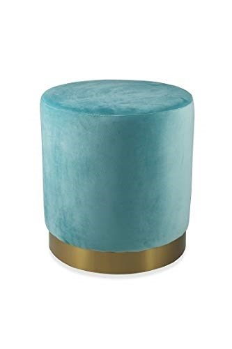 buy popular 4b4d4 a9cc9 Galileo Casa 2191354 Pouf Base Gold Velluto Tiffany 48x48x52cm, Verde