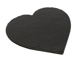 The Just Slate Company Heart tovagliette (Set di 2) Nero