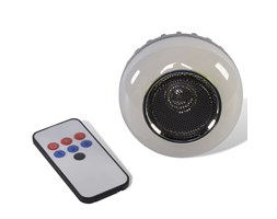 Party Fun Lights Altoparlante Bluetooth con Telecomando Grigio